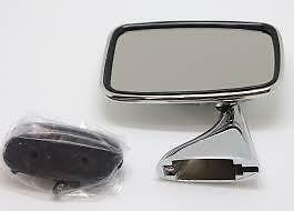 Rover P6, P6B L/H Stainless Steel Tex Style Door Mirror N/S Gam216A 6E2