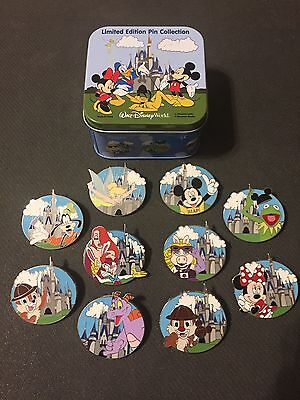 Disney Characters with Cinderella Castle - Mystery Tin - COMPLETE SET LE 200