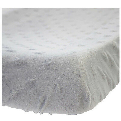 KIDZ KISS Nursery Essentials Sherpa Change Mat / Pad Cover [Grey]