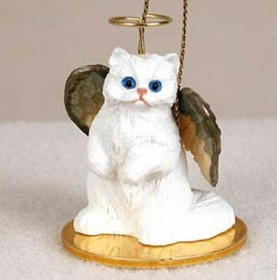 White Persian Cat Tiny Ones Angel Ornament