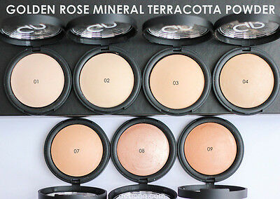 Golden Rose Mineral Terracotta Powder Different Shades  Excellent Coverage