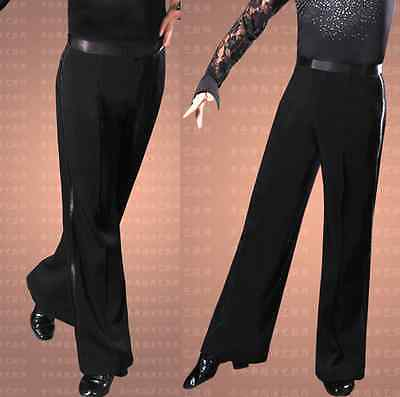 Ballroom Latin Dance Pants Mens Boys Competition Practice Trousers black 27-46
