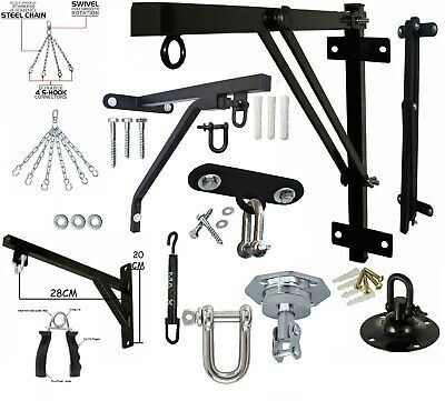 Maxx Heavy Duty Punch Bag Wall Bracket Steel Mount Hanging Stand Hook Chains UFC