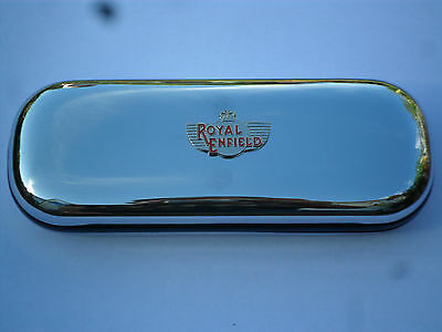 ROYAL ENFIELD tank badge motorbike car brand new chrome glasses case great gift