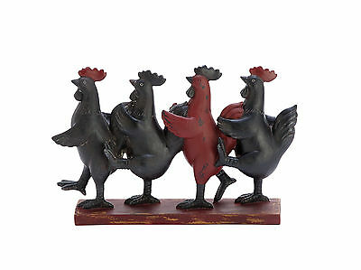 """GwG Outlet Polystone Dancing Roosters Statue 10""""W, 8""""H 79947"""