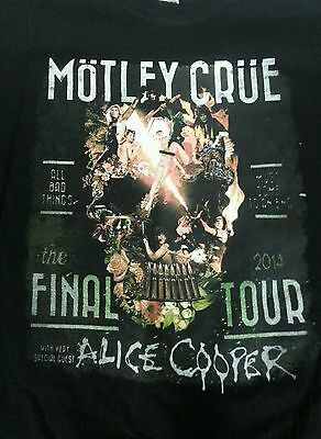 Men's 2Xl Möntley Crüe The Final Tour 2014 T-Shirt New