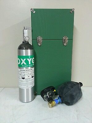 Erie Manufacturing Oxygen Equipment With Resuscitator And  Hard Case