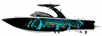 Sea Monster Zombie * Custom Boat Wrap - Customized to Fit Your Boat