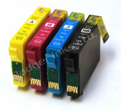Set of 4 Compatible 29XL Printer Ink Cartridges Equivalent to Strawberry Series