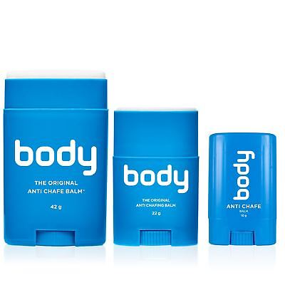 Bodyglide Body Formula Anti Chafe Balm 10g, 22g or 42g Gym Triathlon Wetsuit