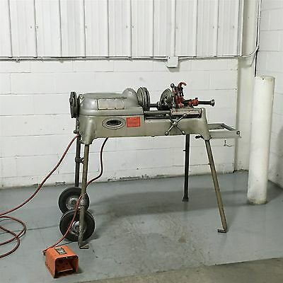 Ridgid 802 Pipe Threader Groover Attachment Cart Foot Pedal 535 300 Victaulic