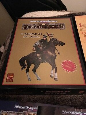 Advanced Dungeons & Dragons Forgotten Realms Campaign Setting AD&D Book Game Set