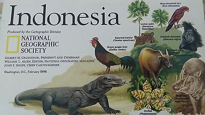 National Geographic Map Indonesia February 1996
