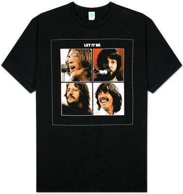 The Beatles - Let it Be II T-Shirt Black New Shirt Tee