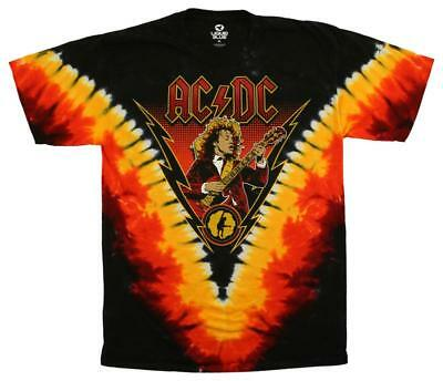 AC/DC - Angus Lightning T-Shirt Tie Dye Licensed Mens Shirt New