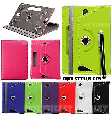 """360° Rotating Plain Case Cover For 7"""" Inch Acer iConia One 7 B1-770 Tablet + Pen"""