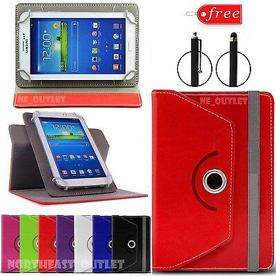 """360° Rotating Case Cover Fits ACER B1-850 Iconia One 8"""" Inch Tablet +Free Stylus"""