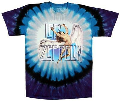 Led Zeppelin - Swan Song T-Shirt Tie Dye Licensed Mens Shirt New
