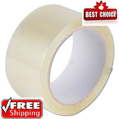 6 ROLLS OF CLEAR CELLOTAPE PACKAGING PARCEL TAPE 48mm x 50m CARTOON SEALING