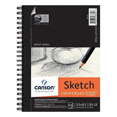 Canson C100510850 5.5 in. x 8.5 in. Sketch Sheet Pad