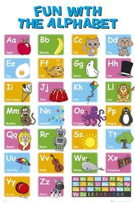 EDUCATIONAL - Alphabet Poster 61 X 91cm learn my ABC wall chart picture new