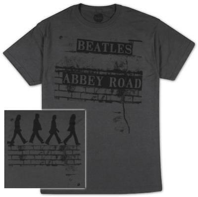 The Beatles - Brick Road T-Shirt Grey New Shirt Tee