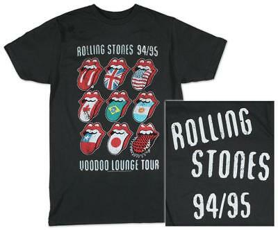 The Rolling Stones - Voodoo Tongues Vintage T-Shirt Black New Shirt Tee