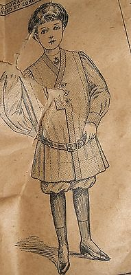 Antique  SEWING PATTERN -CHILDREN Russian boy McCall #2475 circa 1900 rare