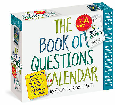 The Book of Questions Page-A-Day Calendar 2017 by Gregory Stock NIB