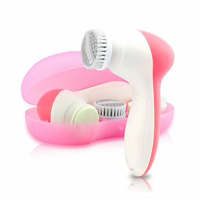 4 in 1 Electric Facial Cleansing Brush Deep Skin Cleanser Massager Brand New