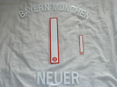 NEUER 1 Home 2016/17 Name & Number Set For Bayern Munich Shirt Iron On Germany