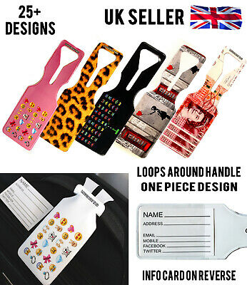 Cool Travel Holiday Bag Luggage Label Suitcase Tags Oneloop Design With Name Id