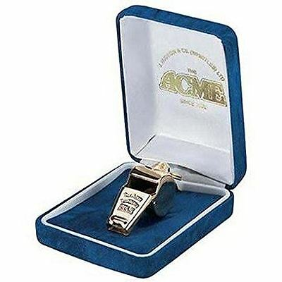Thunderer 60.5 Gold Plated Acme Whistle w/ Gift Box Coach Referee Safety NEW