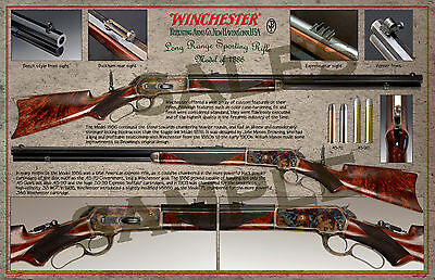 "Winchester Long Range 1886 Rifle Poster 11"" x 17"""