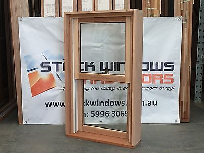 Timber Double Hung Window 1025h x 606w DOUBLE GLAZED HARDWOOD - IN STOCK NOW