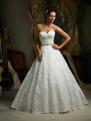 Brand New Mori Lee Alencon Lace Open Back Bridal Gown Style 5115 free shipping