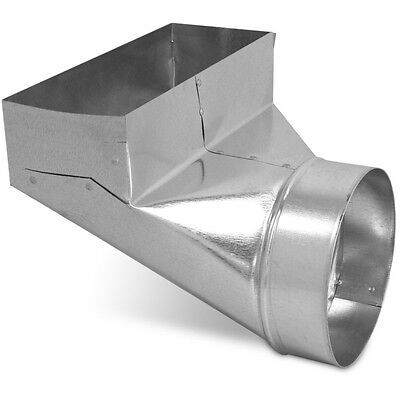 "Air Duct Angle Boot 4"" x 10"" x 6"" Round Galvanized Steel Metal Heating Register"