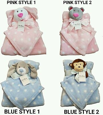 Baby blanket with comforter for Newborn Soft  Pram Crib Moses Basket Girl Boy