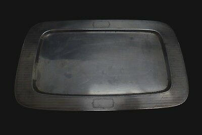Vintage RW & S Sterling Silver Striped Rectangle Small Serving Tray 245 grams