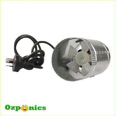 "HYDROPONICS 4""/100MM INLINE EXHAUST DUCT FAN 12W Metal Blade For Ventilation"