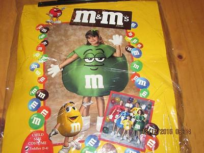 Kids M&m Full Costumew/ Gloves And Boots, Green, New, Free Shipping