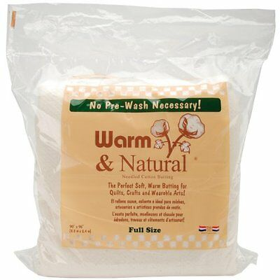 Warm Company Batting 90-In by 96-In Warm and Natural Cotton Batting, Full 209055