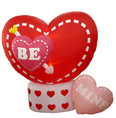 """Valentine Air Blown Animated Inflatable Yard Lawn Decoration Rotating """"BE"""" Heart"""