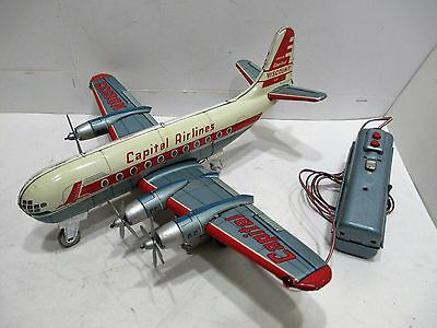 Capital Airline Strocruiser Battery Operated Airplane Good Conditon Works Good