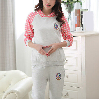 Newly Maternity Outfits Stunning Pregnant Women Suits Hooded Tops Belly Pants