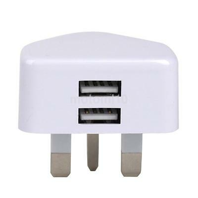 UK Plug Dual 2 Ports USB Fast Charger 5V 2.1A Adapter for Tablet Mobile iPhone 6