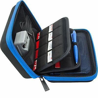 BRENDO Nintendo 3DS XL 2DS XLCarry Case Fit Wall Charger, 24 Holder,Large Stylus