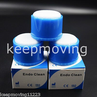 10x Dental Autoclavable Round Endo File Holder Stand Cleaning Foam Sponges Clean