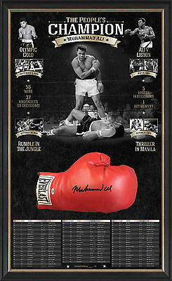 Muhammad Ali Hand Signed Official Boxing Glove Framed AMA Certified L/E 61 COA