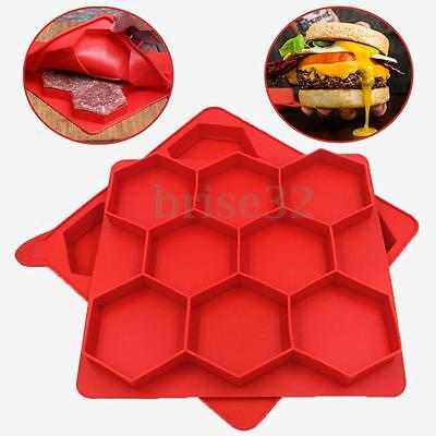 Silicone 8 in 1 Innovative Burger Shape Hamburger Press Patty Freezer Container